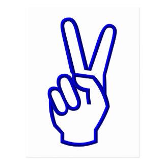Paz o V para la victoria Postales