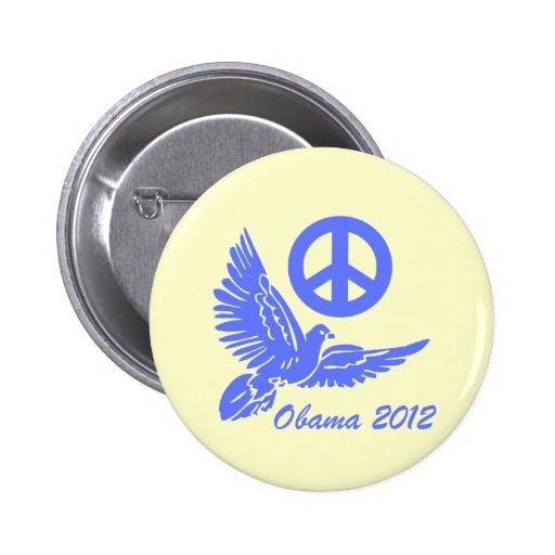 paz Obama 2012 Pin Redondo De 2 Pulgadas