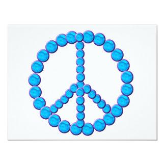 "Paz Oceano Invitación 4.25"" X 5.5"""