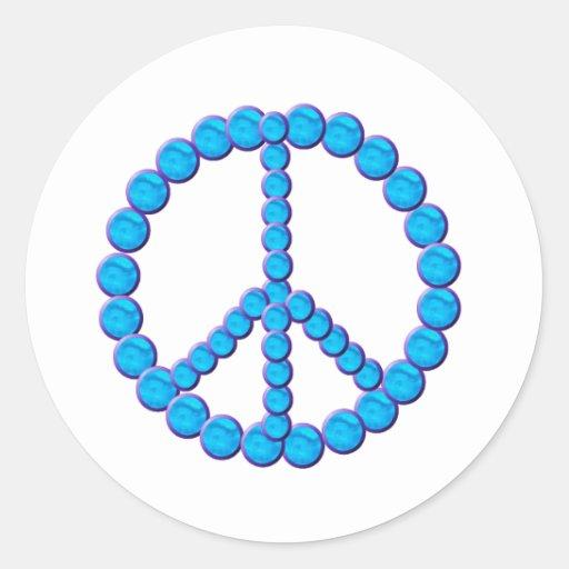 Paz Oceano Pegatina Redonda