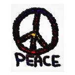 Paz oscura plantilla de membrete