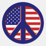 Paz para América Pegatina Redonda