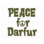 Paz para Darfur 1 Tarjeta Postal