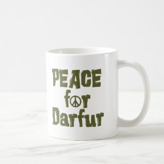 Paz para Darfur 1 Taza Básica Blanca