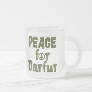 Paz para Darfur 1 Taza Cristal Mate
