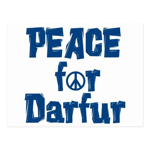 Paz para Darfur 2 Tarjeta Postal