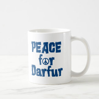 Paz para Darfur 2 Taza Básica Blanca