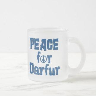 Paz para Darfur 2 Taza Cristal Mate