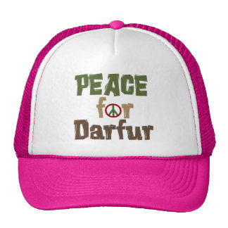 Paz para Darfur 3 Gorros Bordados