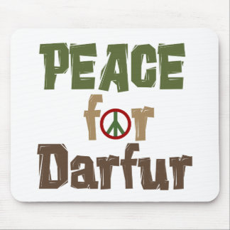 Paz para Darfur 3 Tapetes De Ratones