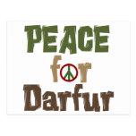Paz para Darfur 3 Tarjetas Postales