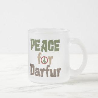 Paz para Darfur 3 Taza Cristal Mate