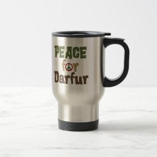 Paz para Darfur 3 Taza De Viaje De Acero Inoxidable