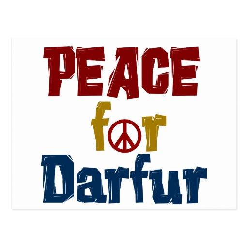 Paz para Darfur 5 Tarjeta Postal