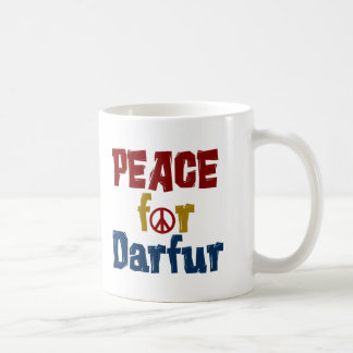 Paz para Darfur 5 Taza Básica Blanca