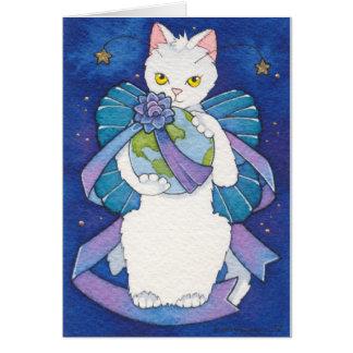 Paz para el notecard del navidad tarjeta pequeña