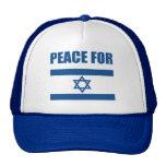 Paz para Israel Gorros Bordados