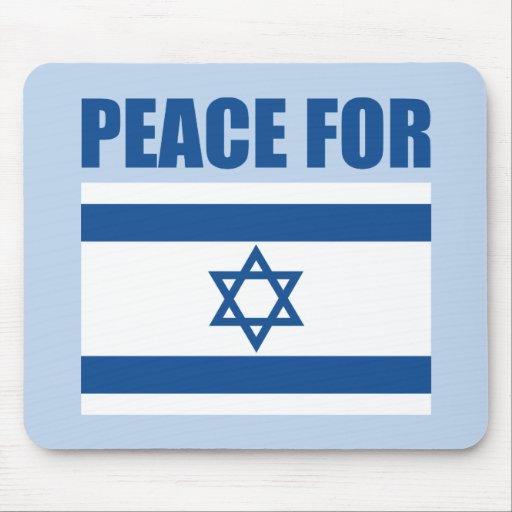 Paz para Israel Tapetes De Ratón