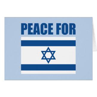 Paz para Israel Tarjeta De Felicitación