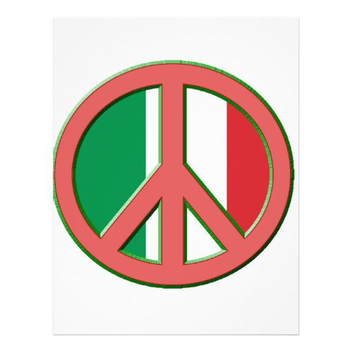 Paz para Italia Flyer Personalizado