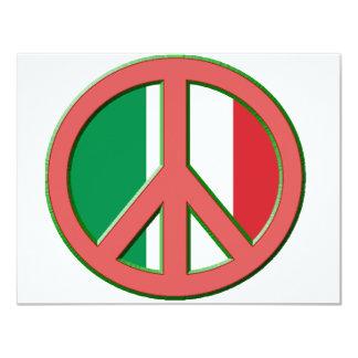 """Paz para Italia Invitación 4.25"""" X 5.5"""""""