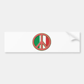 Paz para Italia Pegatina Para Auto