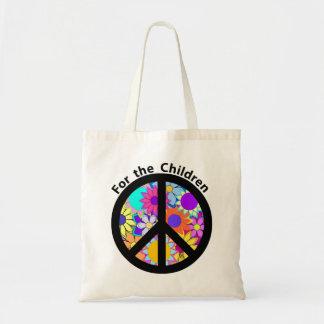 Paz para los niños bolsas de mano