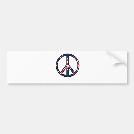 Paz para Reino Unido Etiqueta De Parachoque