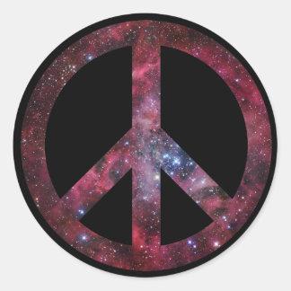 Paz para todo el universo pegatina redonda