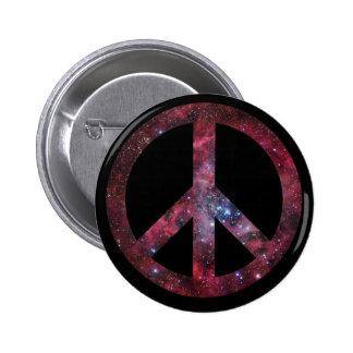 Paz para todo el universo pin redondo de 2 pulgadas