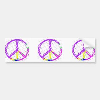 Paz para todos etiqueta de parachoque