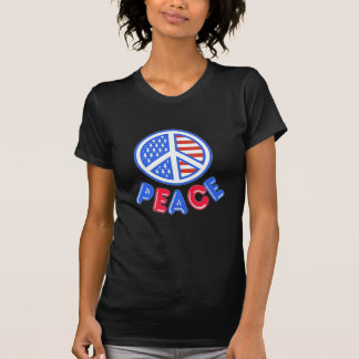 Paz patriótica camiseta