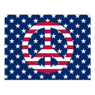 Paz patriótica tarjeta postal