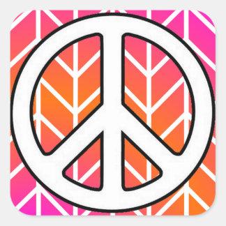 Paz Pegatina Cuadrada