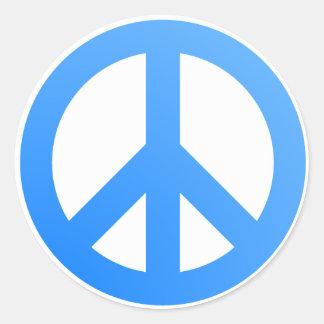 ¡Paz! Pegatina Redonda