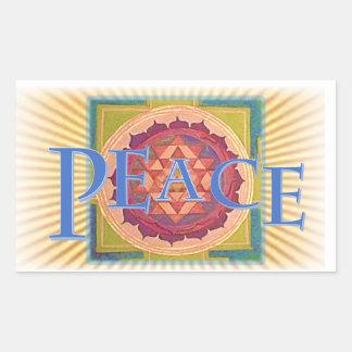 Paz Rectangular Pegatina