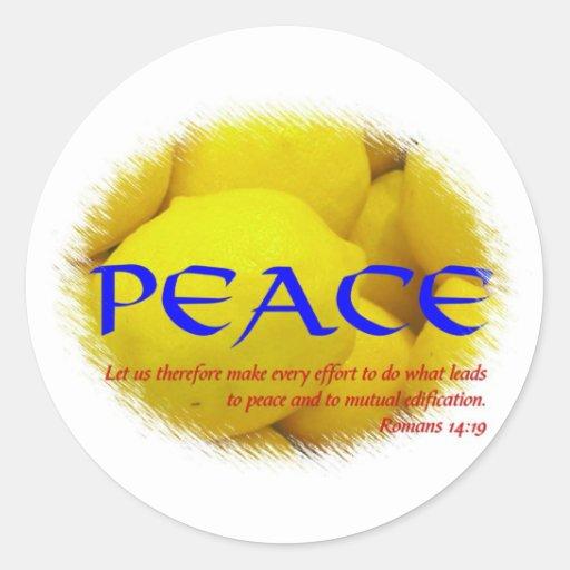 Paz Pegatina Redonda
