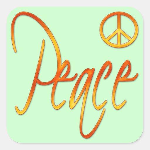 Paz Pegatinas Cuadradas