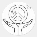 Paz Pegatinas Redondas
