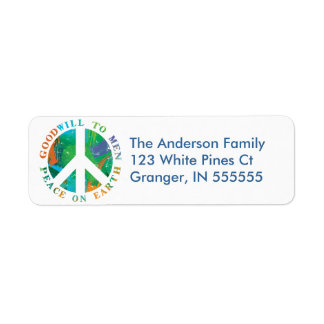 Paz personalizada en etiquetas de dirección de la