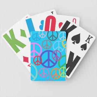 Paz por todas partes barajas de cartas