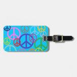 Paz por todas partes etiquetas bolsas