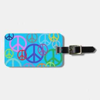 Paz por todas partes etiquetas de maletas