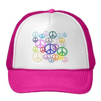 Paz por todas partes gorros bordados