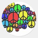 ¡Paz por todas partes! Pegatina Redonda