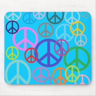 Paz por todas partes alfombrillas de ratón