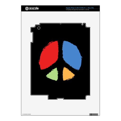 Paz primaria pegatina skin para iPad 3