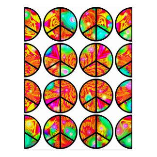 paz psicodélica 4x4 postales