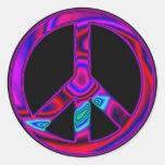 Paz psicodélica etiquetas