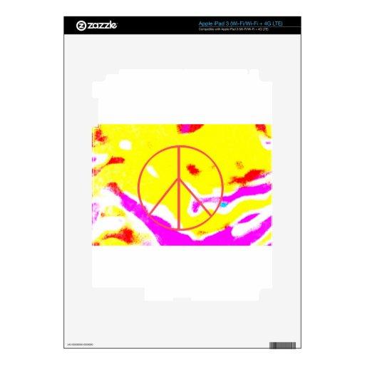 Paz psicodélica iPad 3 pegatinas skins